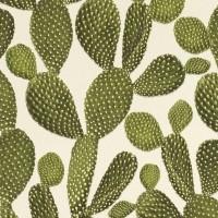 Тапет Инспирейшън зелени кактуси крем