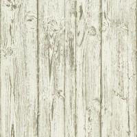 Тапет Тухли & Дърво винтидж дъски бели